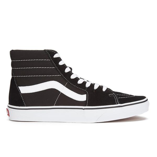 Vans Sk8-Hi Canvas Hi-Top Trainers - Black/White
