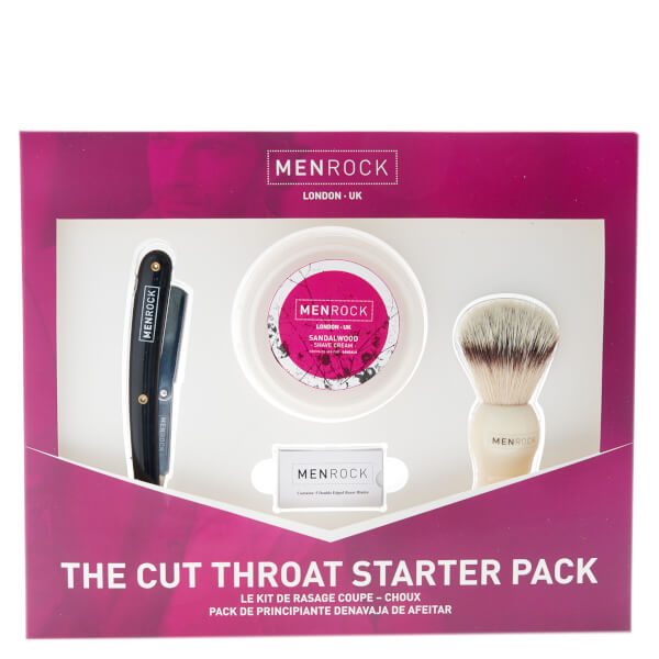 Men Rock Cut Throat Shavette Pack de rasage