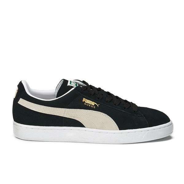 Puma Suede Classic + Trainers - Black/Team Gold/White