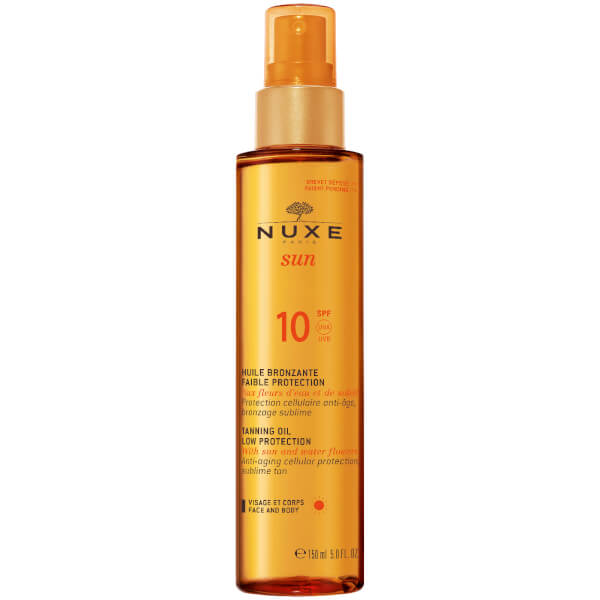 NUXE Sun Tanning Oil Face and Body SPF 10 (150 ml) - Exclusive