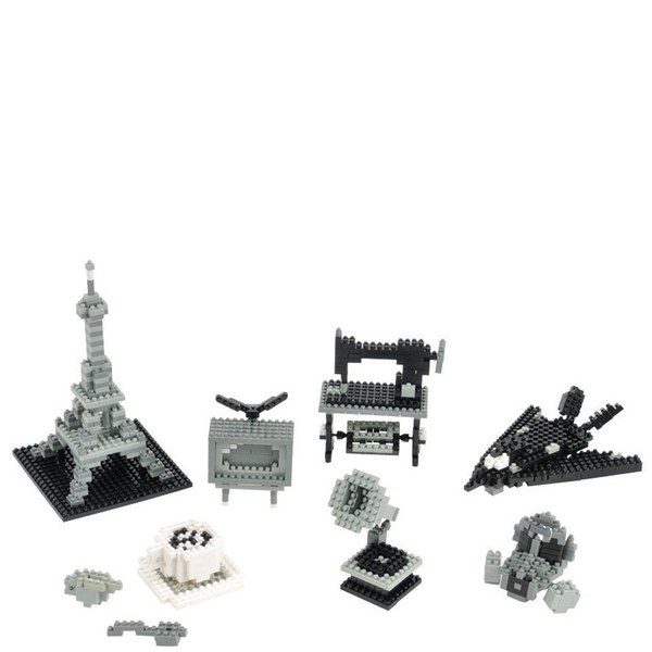 Nanoblock Monotone Colour Set