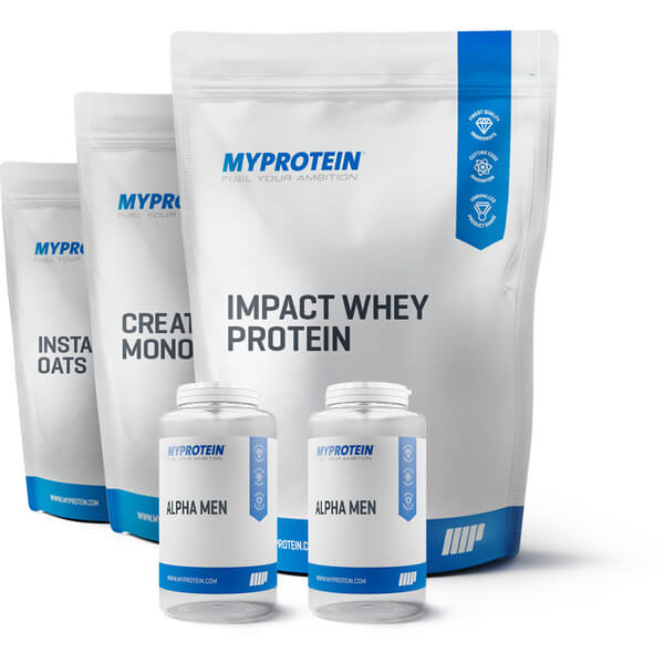 MEGA STAPEL - VANILLE  > Impact Whey Protein, Instant Oats, BCAA Plus, Alpha Men
