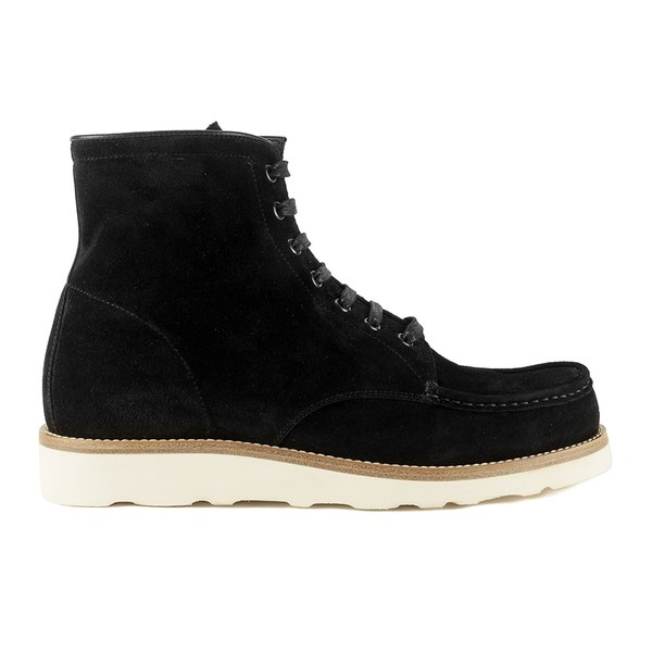 Mr. Hare Men's Hannibal Lace Up Suede Boots - Nero