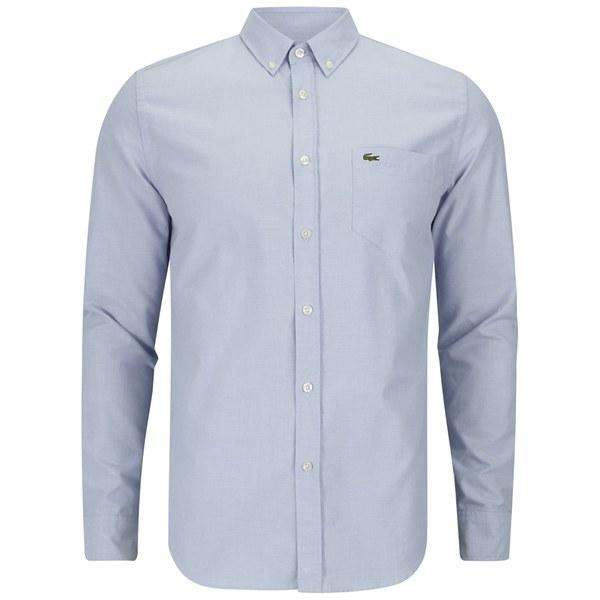Lacoste Men's Long Sleeve Oxford Shirt - Boreal Blue