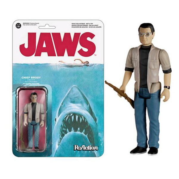 Reaction Jaws Martin Brody 3 3 4 Inch Action Figure