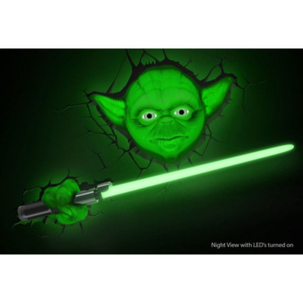 Targetti Wall Lights : Star Wars Yoda 3D Wall Light Merchandise Zavvi.com