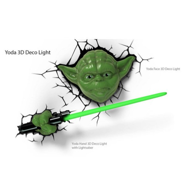 Star Wars Darth Vader (or Yoda) 3D Wall Light with remote control only ?21.99 delivered @ Zavvi ...