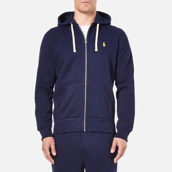 Polo Ralph Lauren Men's Zip Through Hooded Athletic Fleece - Cruise Navy