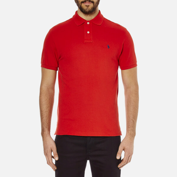 Polo Ralph Lauren Men's Custom Fit Short Sleeved Polo Shirt - Red
