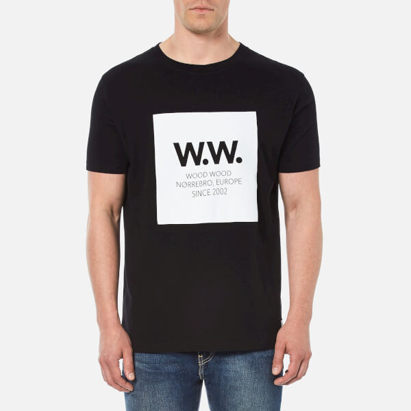 Wood Wood Men's Square T-Shirt - Black