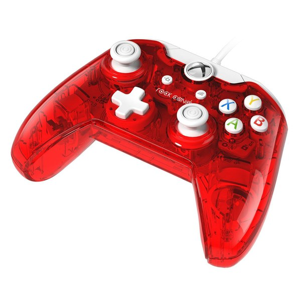 Vibration In Foot >> Rock Candy Red Wired Xbox One Controller Games Accessories   Zavvi
