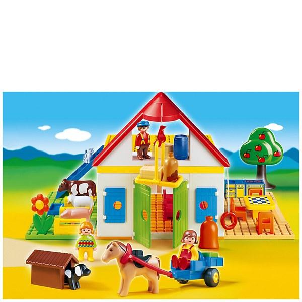 Playmobil 1 2 3 Large Farm 6750 Toys Zavvi
