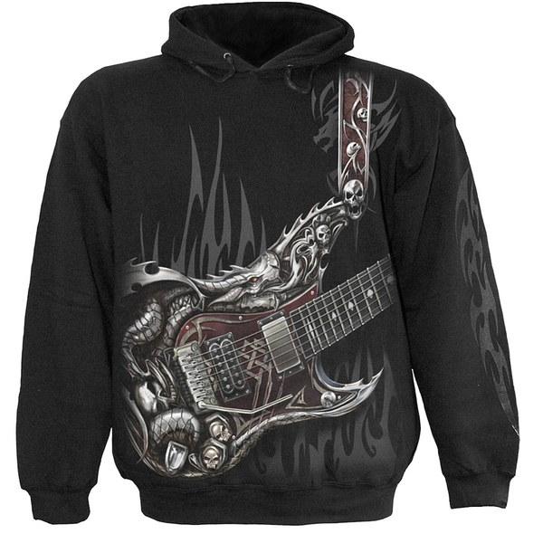 Spiral Men S Air Guitar Hoody Black Mens Clothing Zavvi