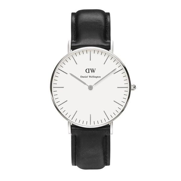 Daniel Wellington Women's Sheffield Silver Watch - Black