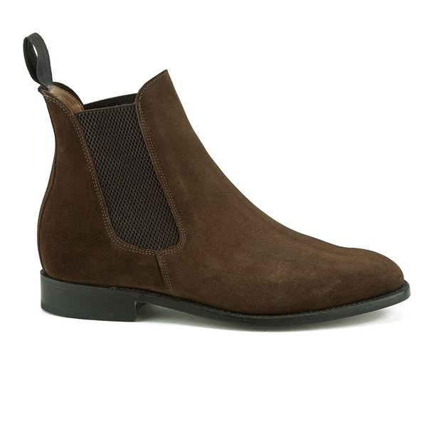sanders s marylebone suede chelsea boots snuff