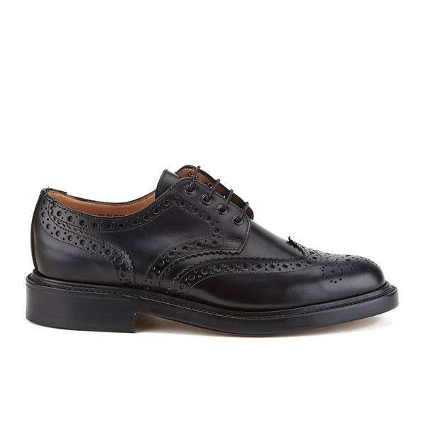 Sanders Men's Fakenham Leather Brogues - Black