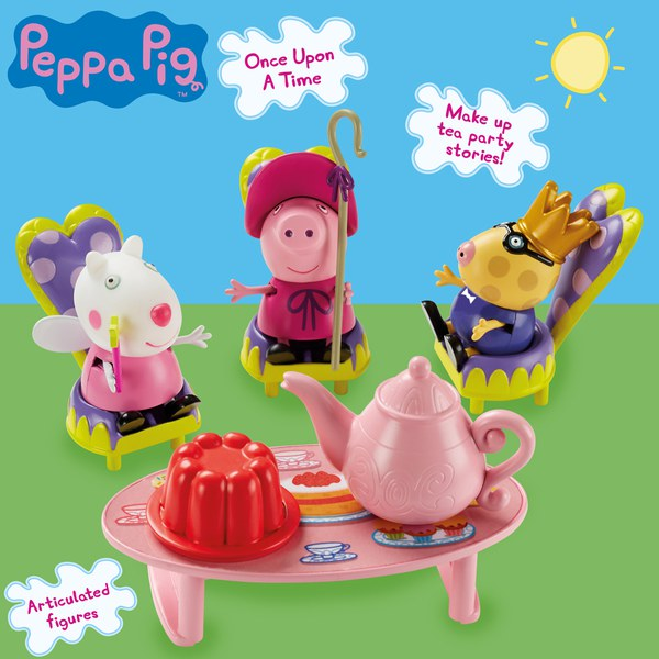 peppa pig once upon a time storytime tea party playset iwoot. Black Bedroom Furniture Sets. Home Design Ideas