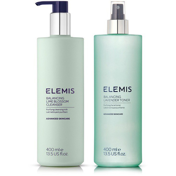 Elemis Supersize Balancing Cleanser and Toner Duo (Worth £88.00)