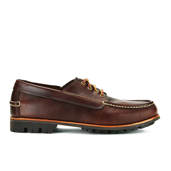 G.H. Bass Men's Ranger Leather Moc Montgomery Shoes - Dark Brown
