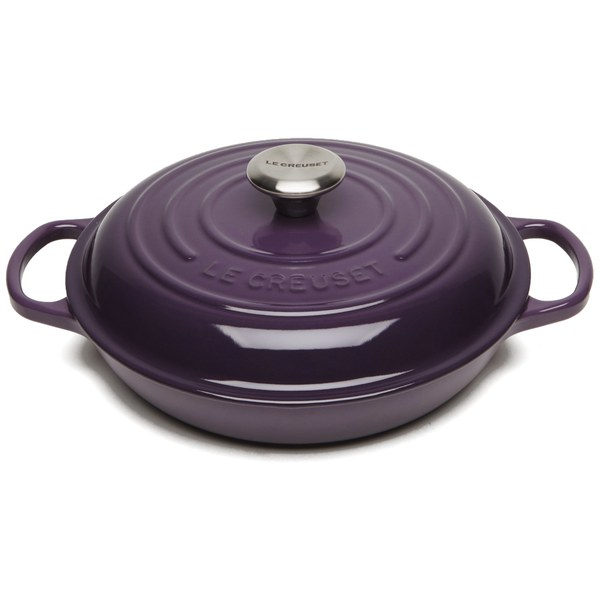le creuset signature cast iron 26cm shallow casserole dish 2l cassis iwoot. Black Bedroom Furniture Sets. Home Design Ideas