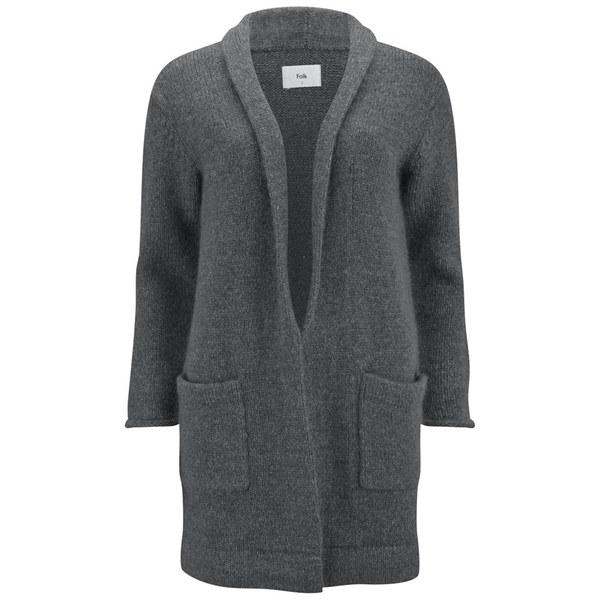 Folk Women's Robe Cardigan - Charcoal