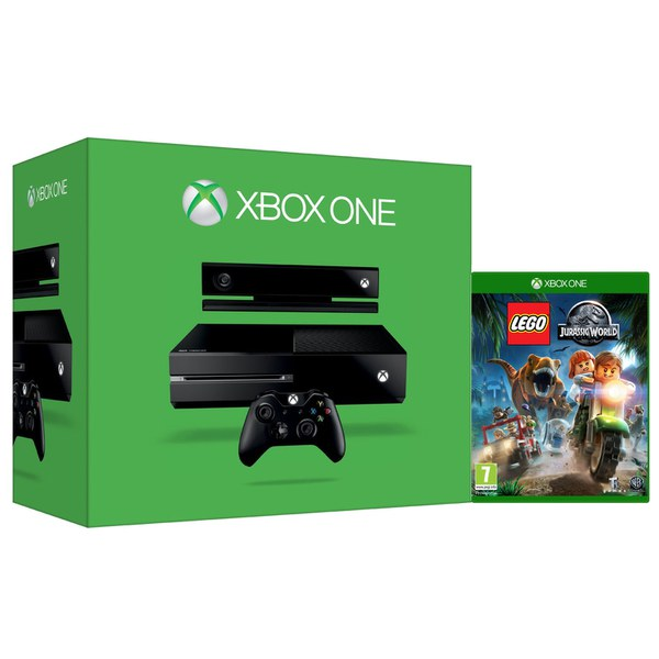 xbox one console with kinect lego jurassic world games