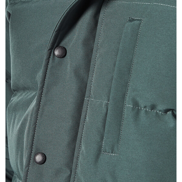 Canada Goose' Men's Carson Fur-Trimmed Parka - Slate - Size M