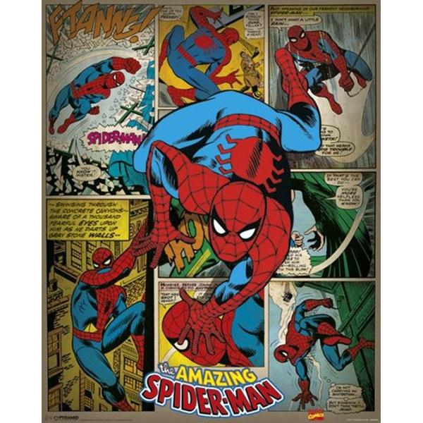 Marvel Comics Spider-Man Retro - 16 x 20 Inches Mini Poster