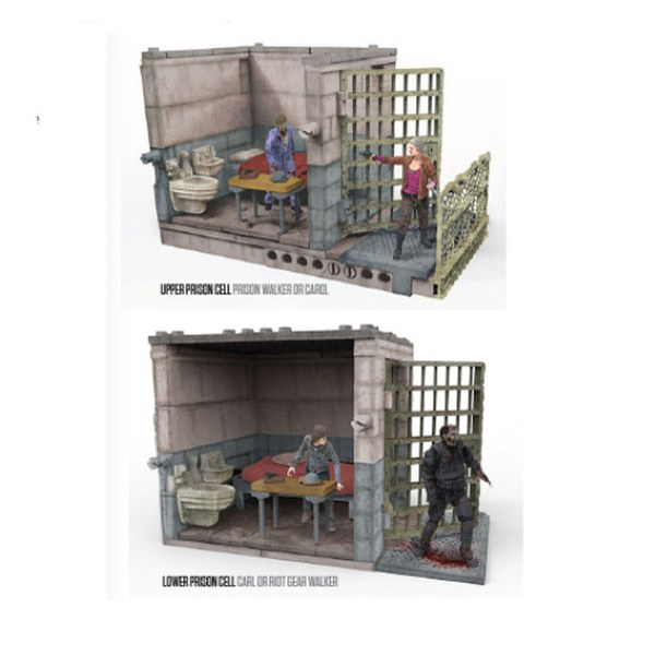 Mcfarlane The Walking Dead Upper And Lower Prison Cells