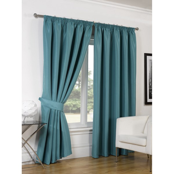 dreamscene faux silk blackout curtains teal iwoot