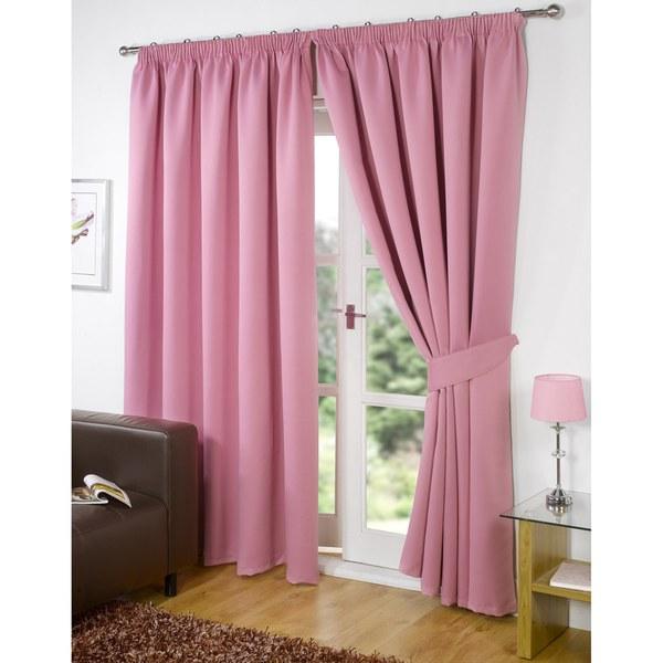 Dreamscene Blackout Pencil Pleat Curtains - Pink