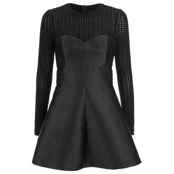 REDValentino Women's Knit Top Party Dress - Black