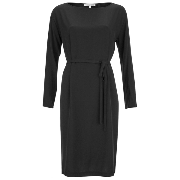 Helmut Lang Women's Blouson Long Sleeve Dress - Black