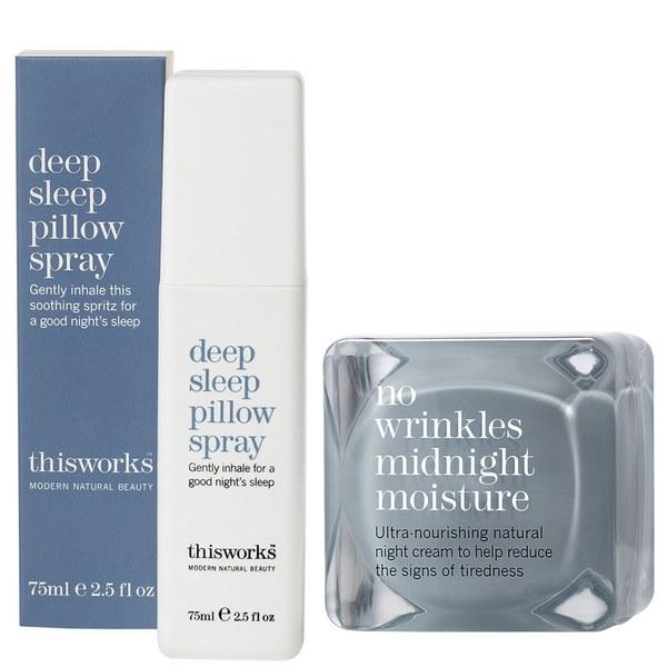 this works Deep Sleep枕头喷雾(75ml)和No Wrinkles 午夜Moisture (48ml)