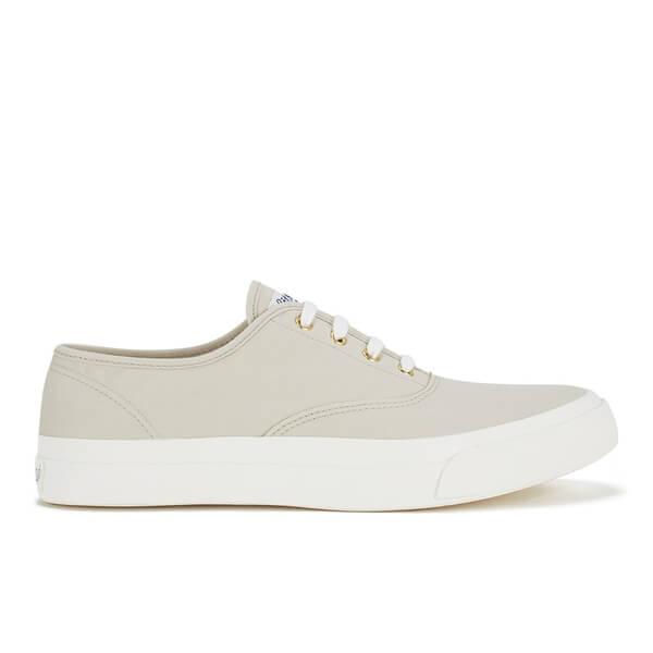 Maison Kitsuné Men's Canvas Sneakers - Beige
