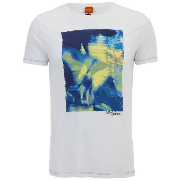 BOSS Orange Men's Thurner 1 Printed T-Shirt - White