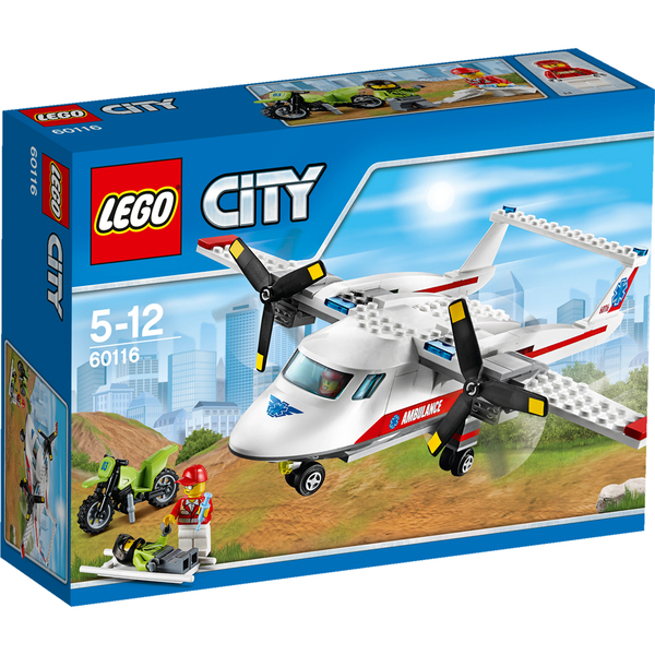 Lego city ambulance plane 60116 iwoot - Lego ambulance ...