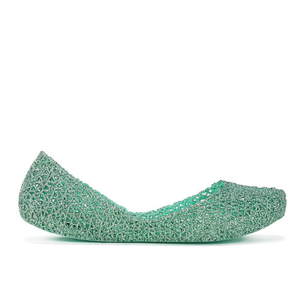 Melissa Women's Campana Papel 15 Ballet Flats - Mint Glitter