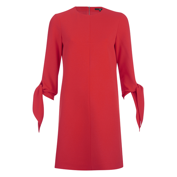 Tibi Women's Tie Sleeve Dress - Scarlet Red