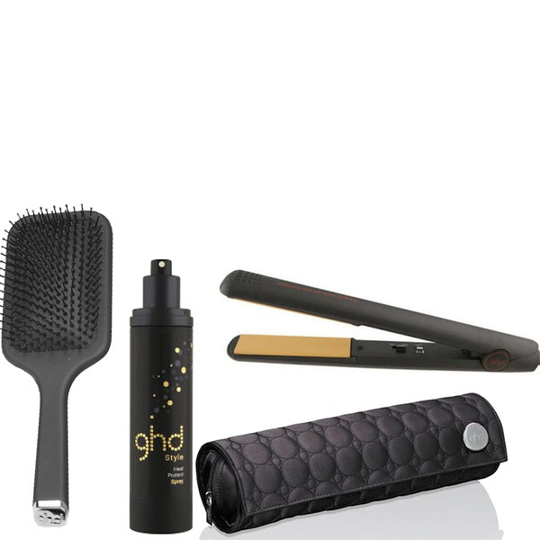 Ghd Iv Styler With Heat Protect Spray And Paddle Brush