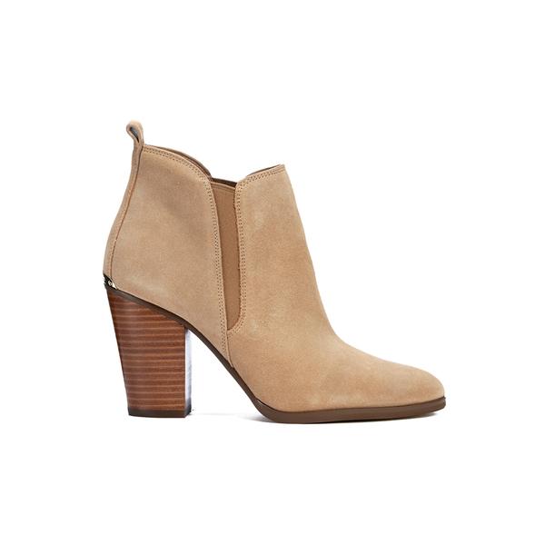 MICHAEL MICHAEL KORS Women's Brandy Sport Suede Heeled Chelsea Boots - Toffee