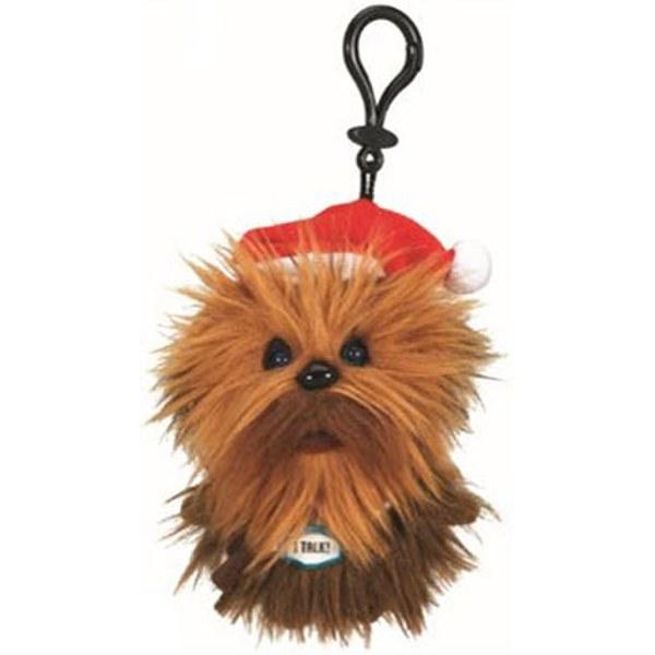 Star Wars Santa Chewbacca Talking Plush Clip On