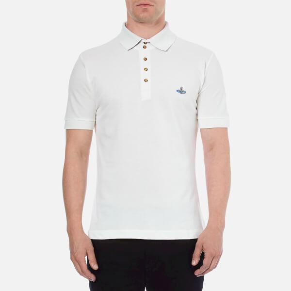 Vivienne Westwood MAN Men's Basic Pique Polo Shirt - White
