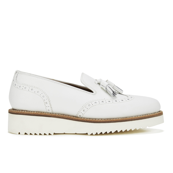 Grenson Women's Kat Leather Tassel Loafers - White
