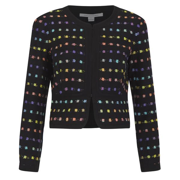 Diane von Furstenberg Women's Alberta Jacket - Black/Pop Violet Multi