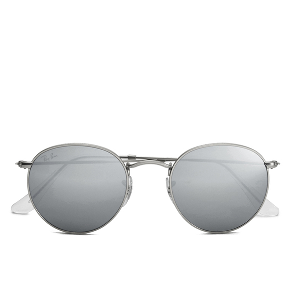 ray ban round metal sunglasses matte silver. Black Bedroom Furniture Sets. Home Design Ideas