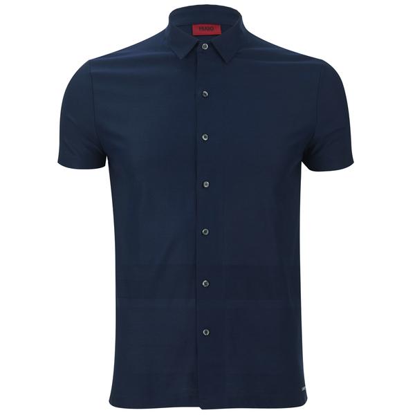 HUGO Men's Darizona Short Sleeve Shirt - Navy