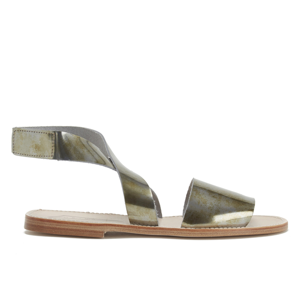 Prism Women's Naxos Ankle Strap Leather Sandals - Rust Metal