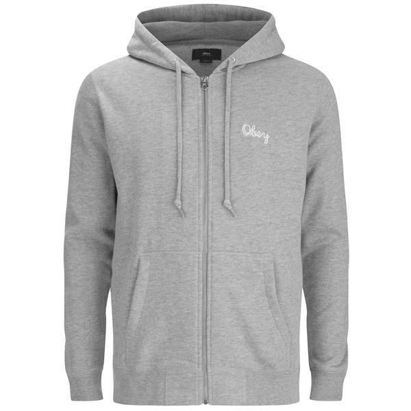 OBEY Clothing Men's Premium Zip Hooded Fleece - Grey