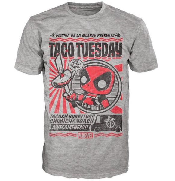 Marvel Deadpool Chimichanga Pop! T-Shirt - Grey